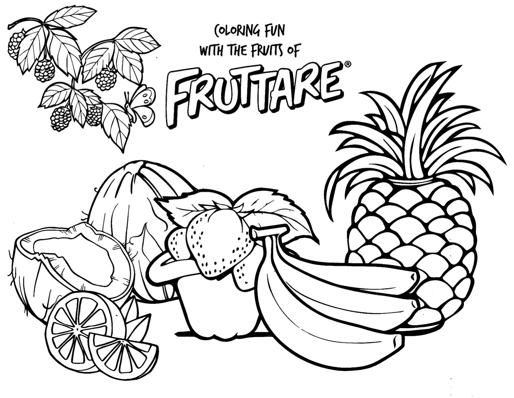 banana coloring page - 5 fun fruit activities for kids and families