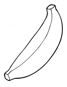 Banana Coloring Page - Bananas Coloring Pages