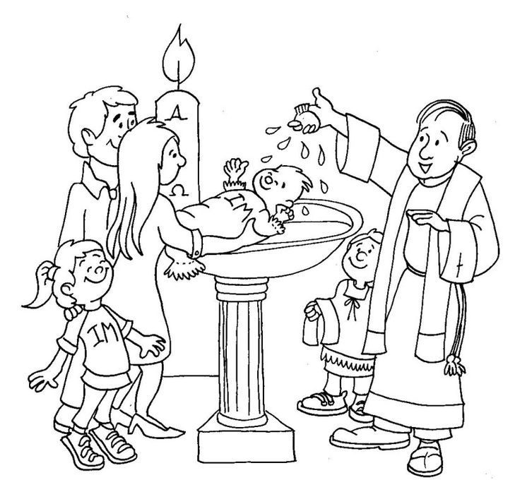 baptism coloring pages - jesus baptism craft