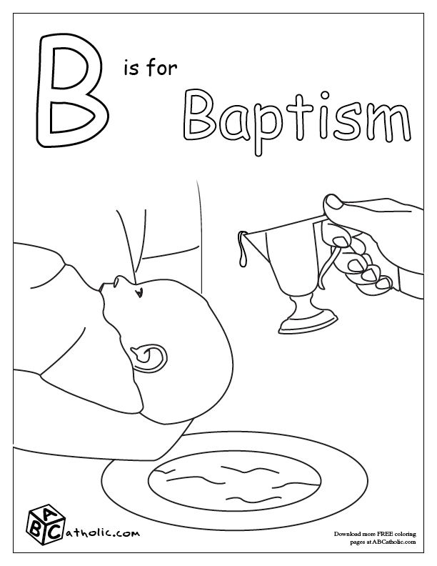 baptism coloring pages -