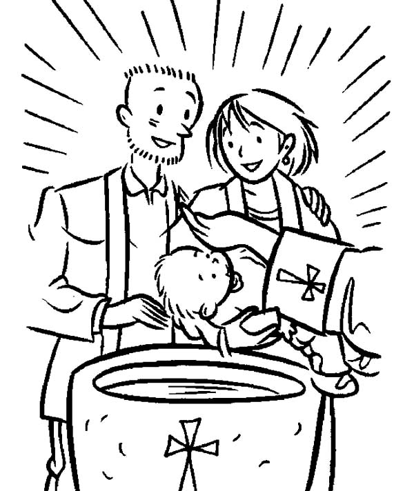 baptism coloring pages - christening