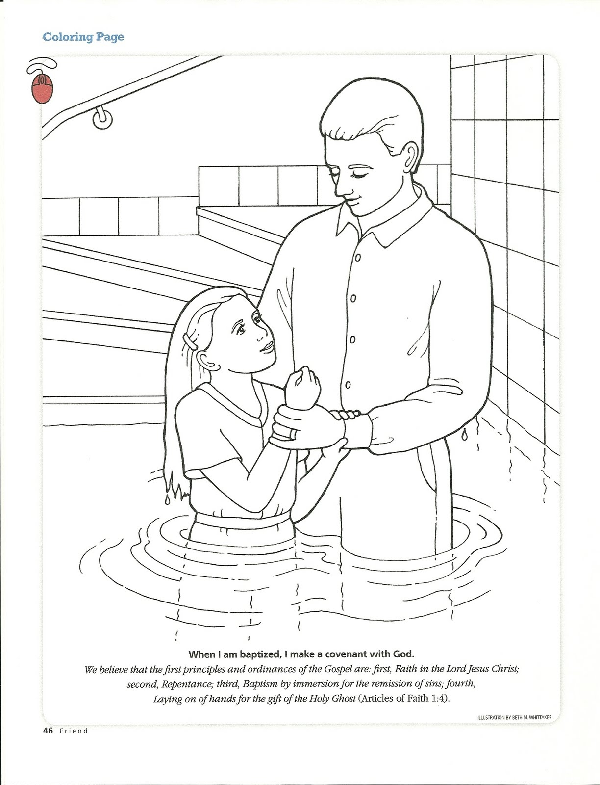 baptism coloring pages - q=baptism of children