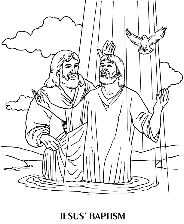 baptism coloring pages - john baptist coloring pages