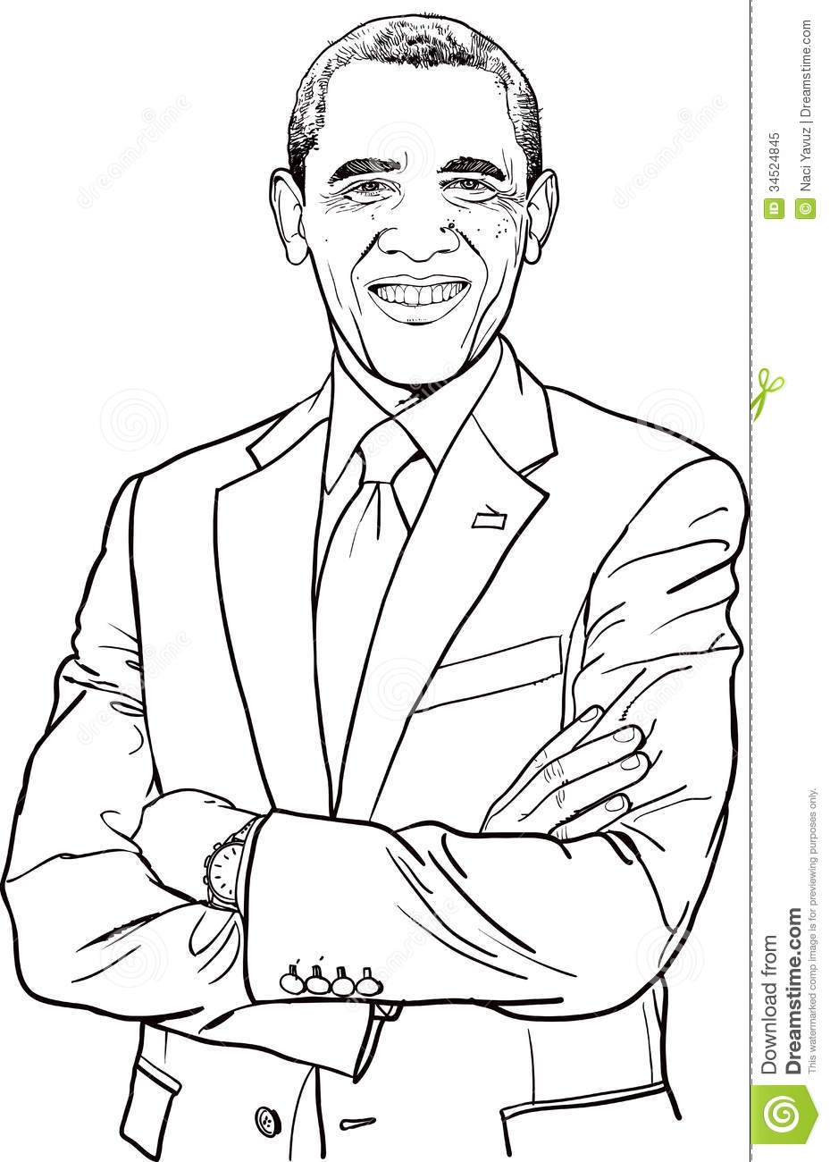 Barack Obama Coloring Page - African American Princess Coloring Pages