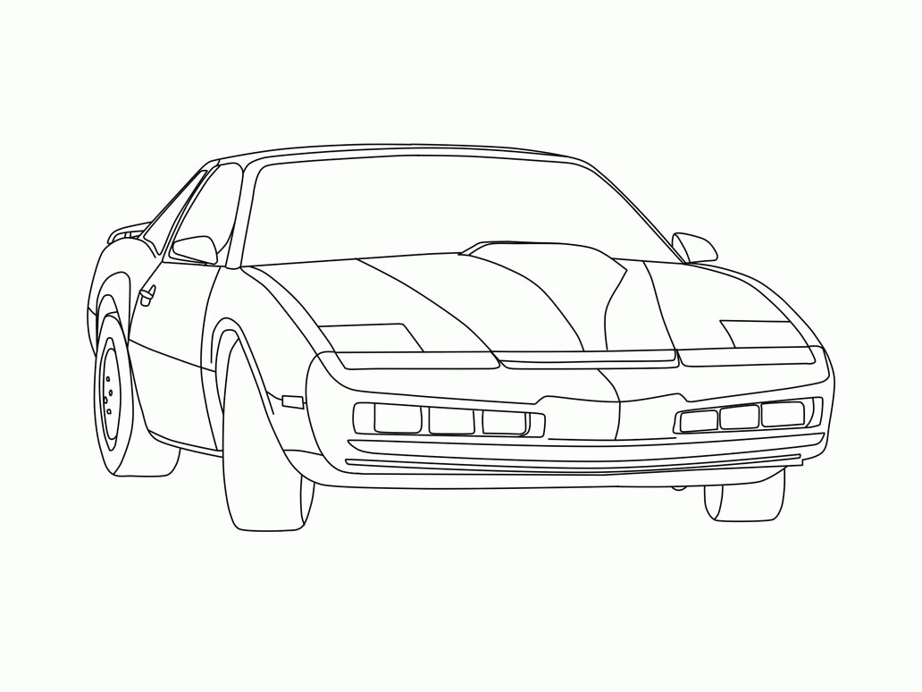 barack obama coloring page - knight rider coloring pages