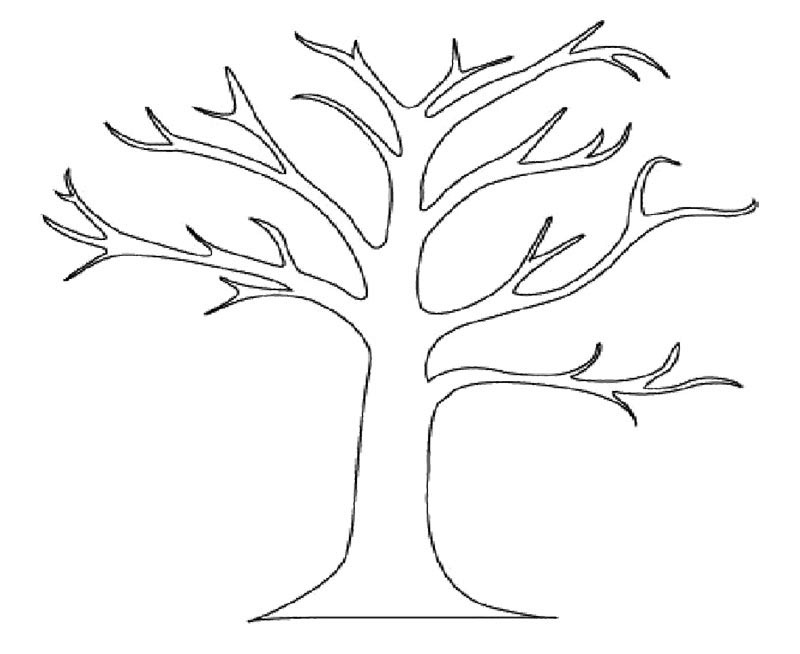Bare Tree Coloring Page - Bare Tree Coloring Page Az Coloring Pages