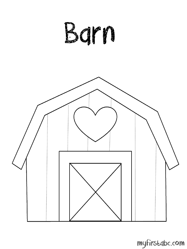 barn coloring pages - barn coloring page