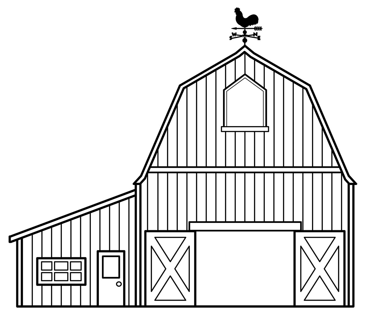 barn coloring pages - 3
