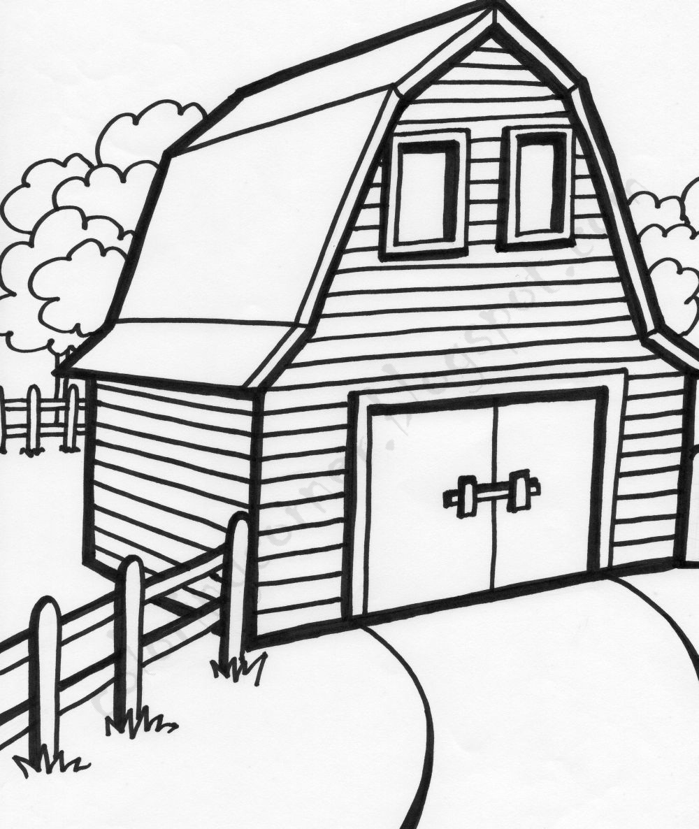 barn coloring pages - barn coloring pages