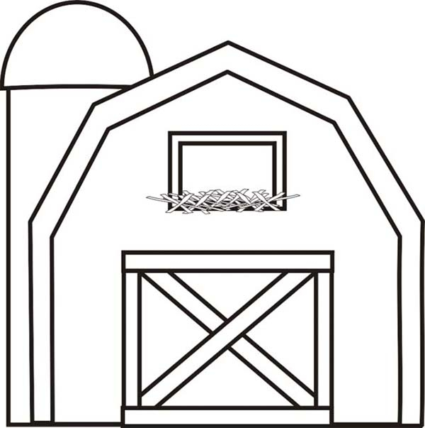 barn coloring pages -