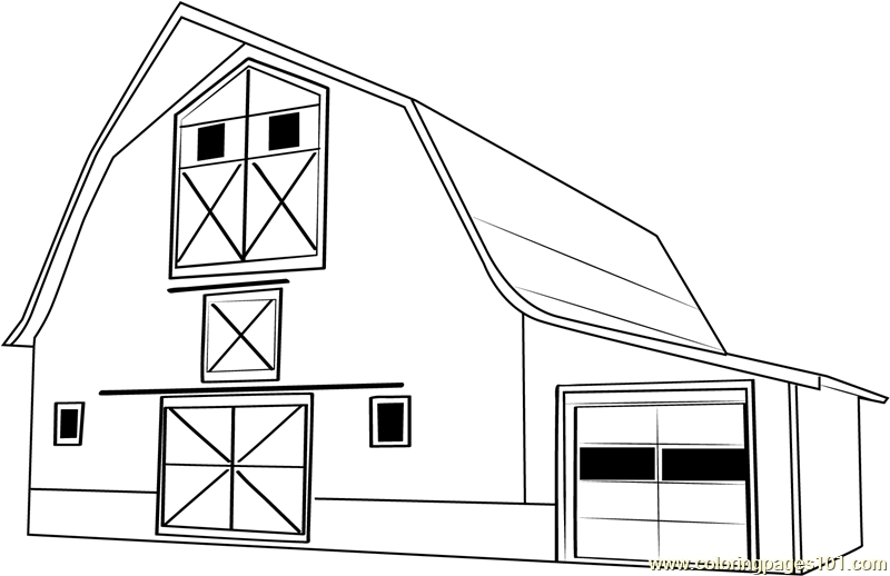 barn coloring pages fall barn coloring page - Barn Coloring Pages Free