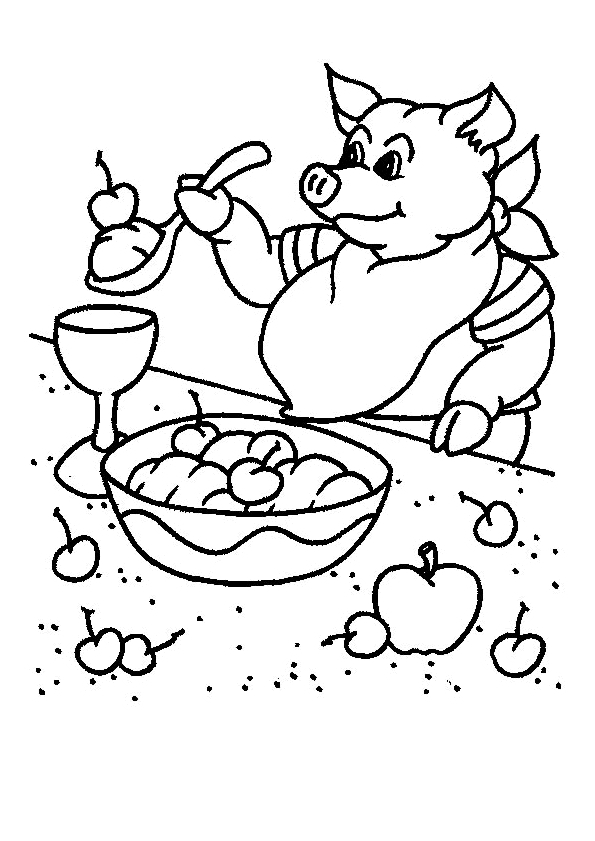 barney coloring pages - Varkens