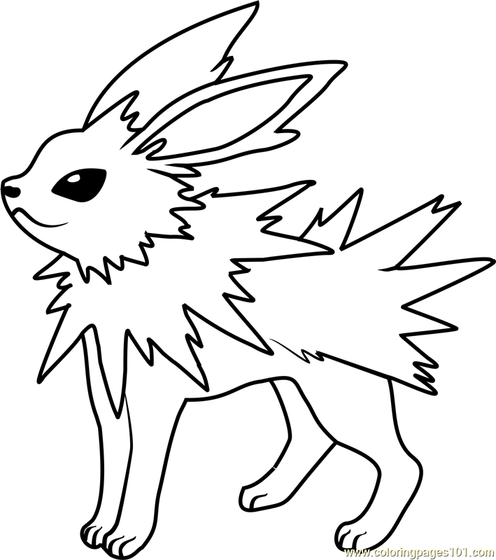barney coloring pages - pokemon coloring pages jolteon