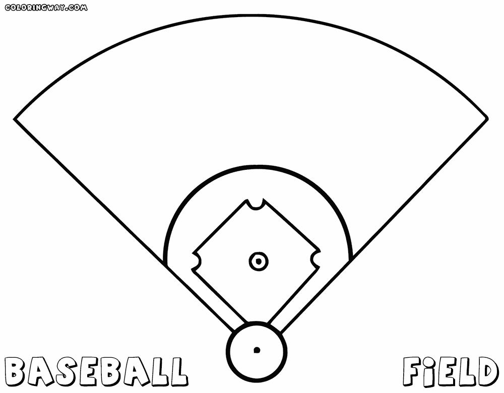 baseball coloring pages - baseball field coloring pages