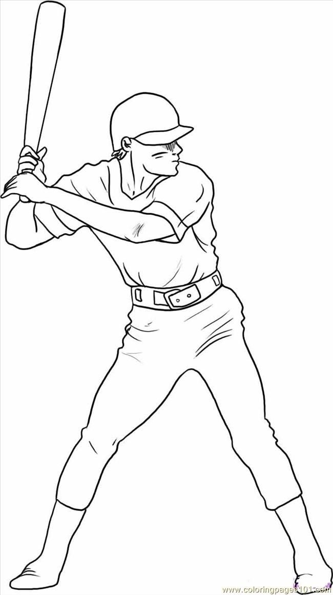 Baseball Player Coloring Pages - Baseball Player Coloring Pages Coloring Home