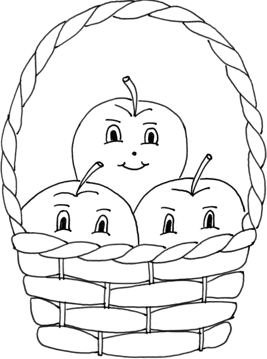 20 Basket Coloring Page Collections