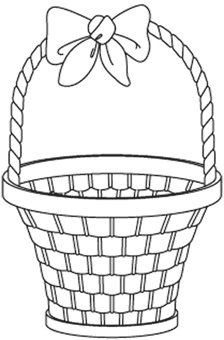 basket coloring page - basket coloring pages 14
