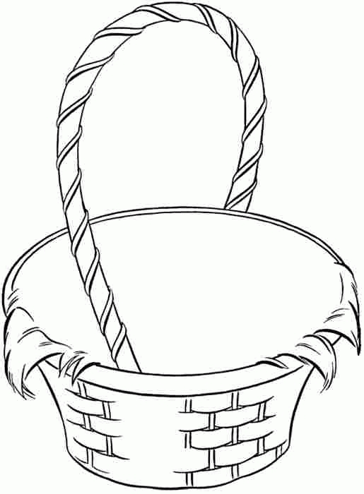 Basket Coloring Page - Empty Basket Coloring Page Coloring Home