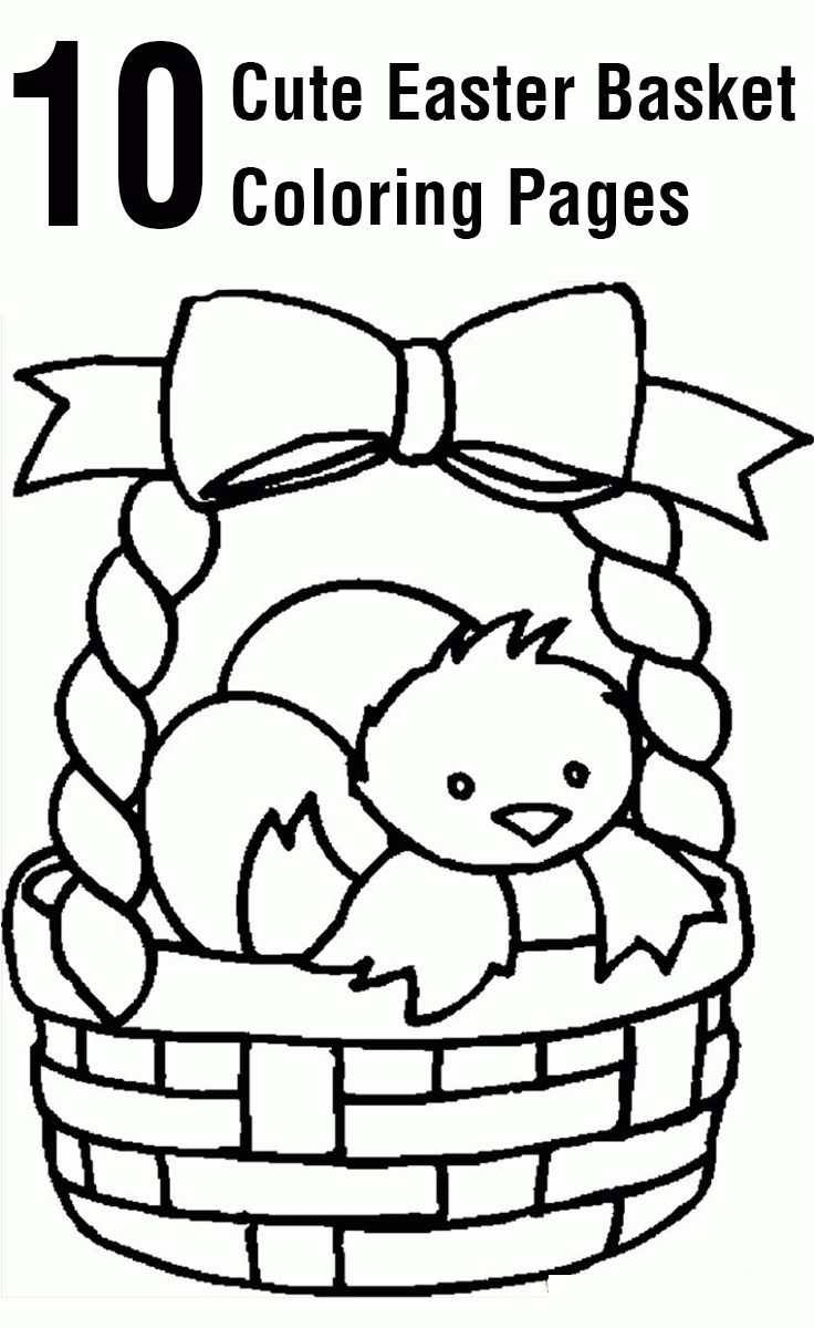 Basket Coloring Page - Empty Easter Basket Coloring Page Coloring Home