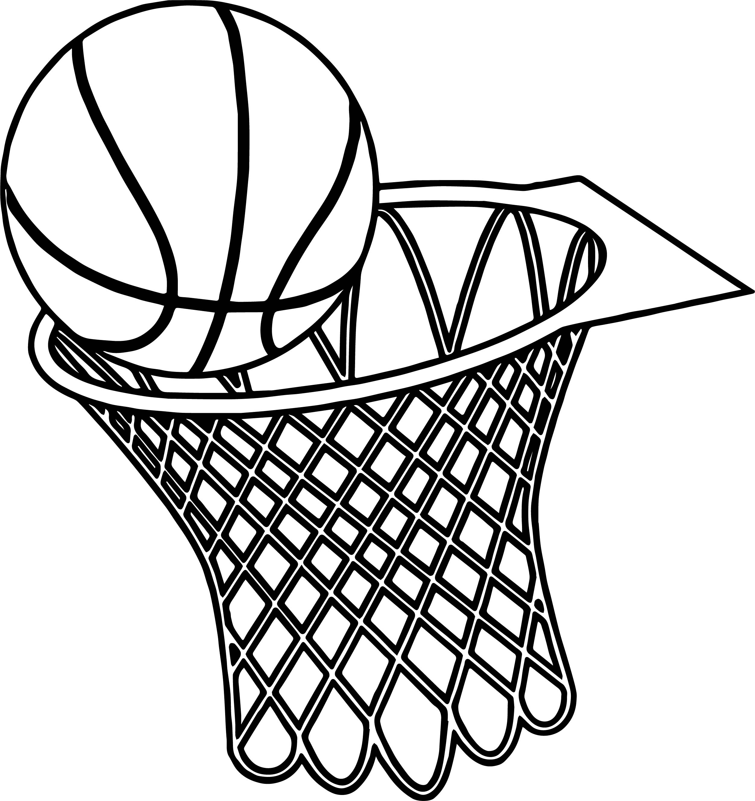 basketball coloring pages - basketball basket graphics musthavemenus found coloring page