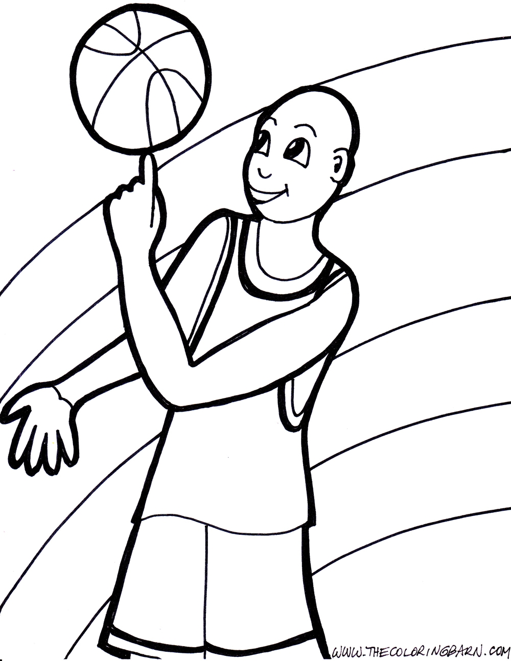 Basketball Coloring Pages - Basketball Coloring Bing Images