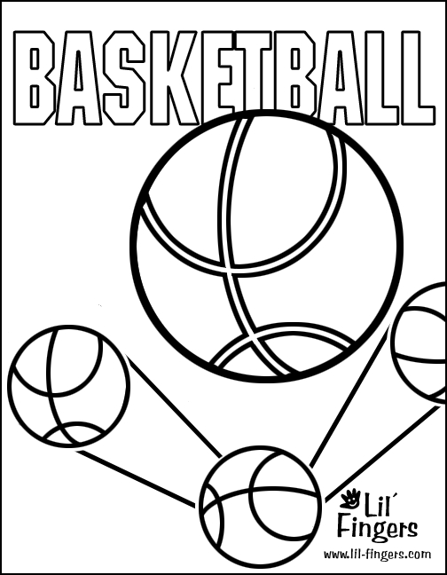 basketball coloring pages - Basketball