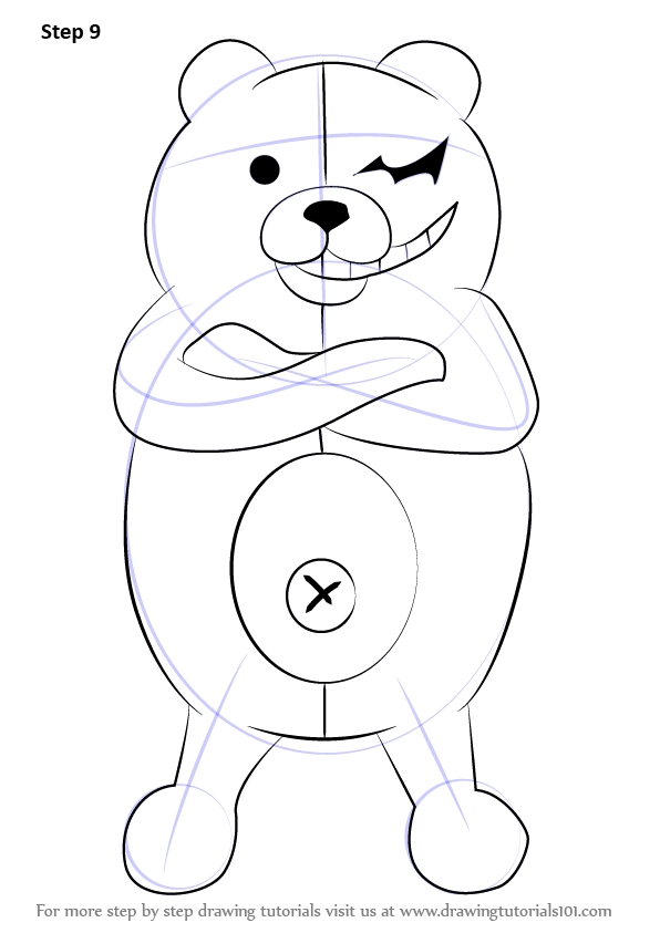 basketball player coloring pages - how to draw monokuma from danganronpa