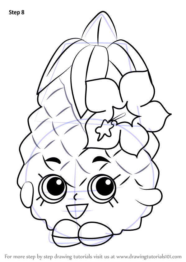 basketball player coloring pages - how to draw pineapple crush from shopkins