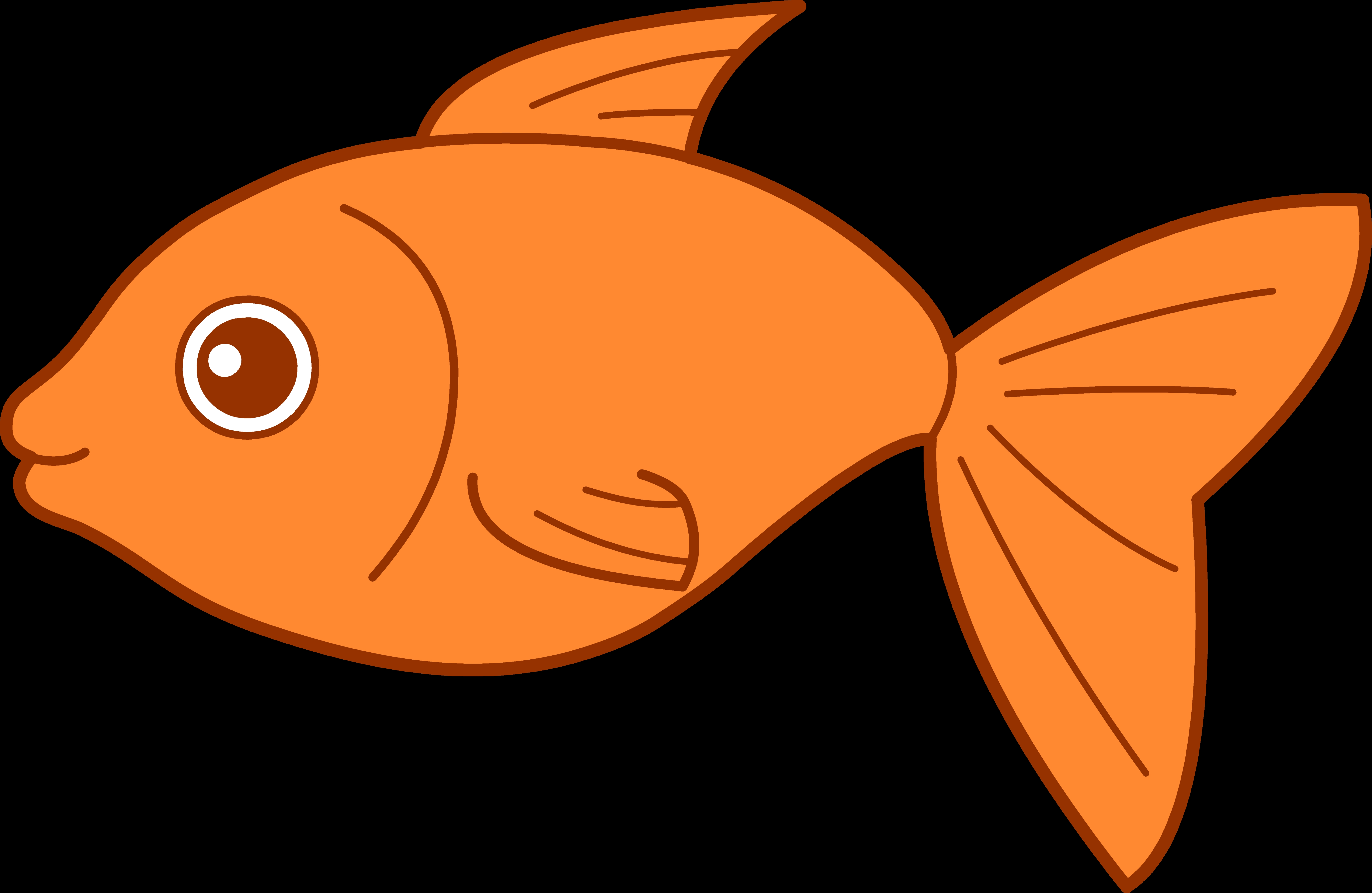 bass coloring pages - cute fish clipart