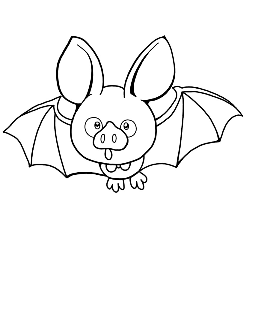 Bat Coloring Pages - Free Printable Bat Coloring Pages for Kids
