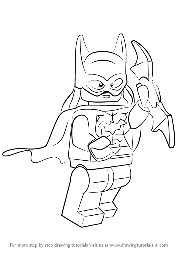 batgirl coloring pages - how to draw lego batgirl