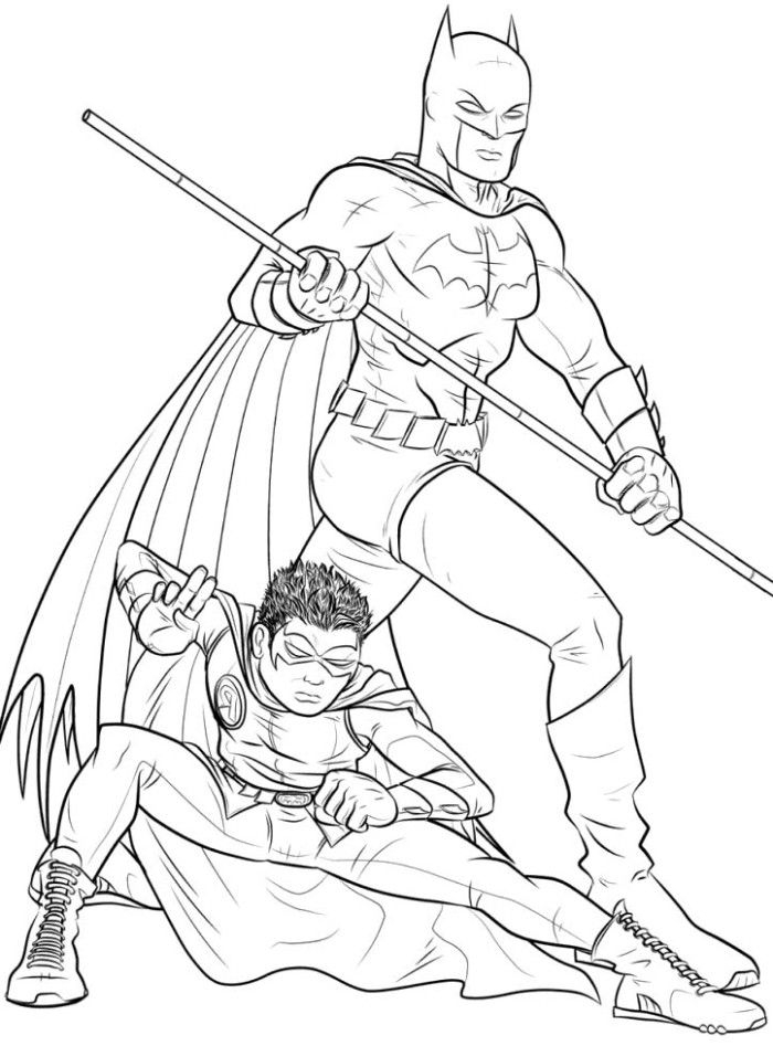 batman and robin coloring pages - coloring pages batman and robin