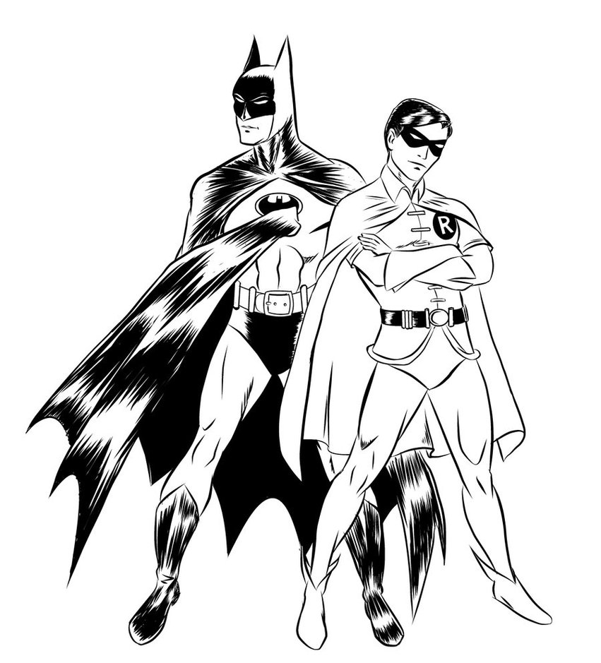 Batman and Robin Coloring Pages - Free Printable Batman Coloring Pages for Kids