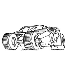 batmobile coloring pages - batman coloring pages for your toddler