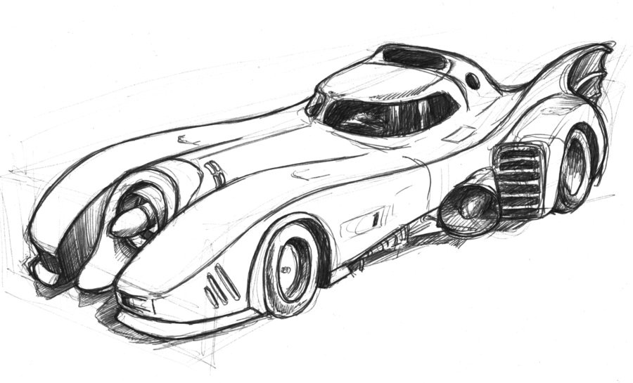 Batmobile Coloring Pages - How to Draw the Batmobile