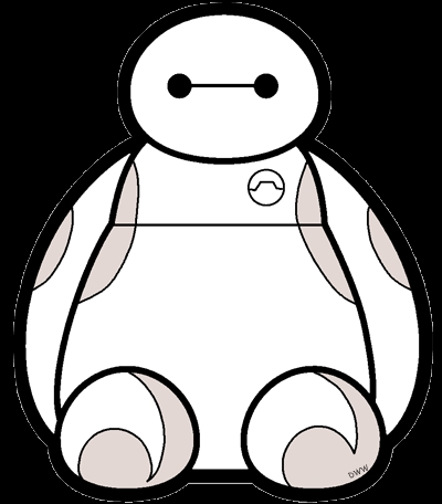 Baymax Coloring Pages - Big Hero 6 Clip Art