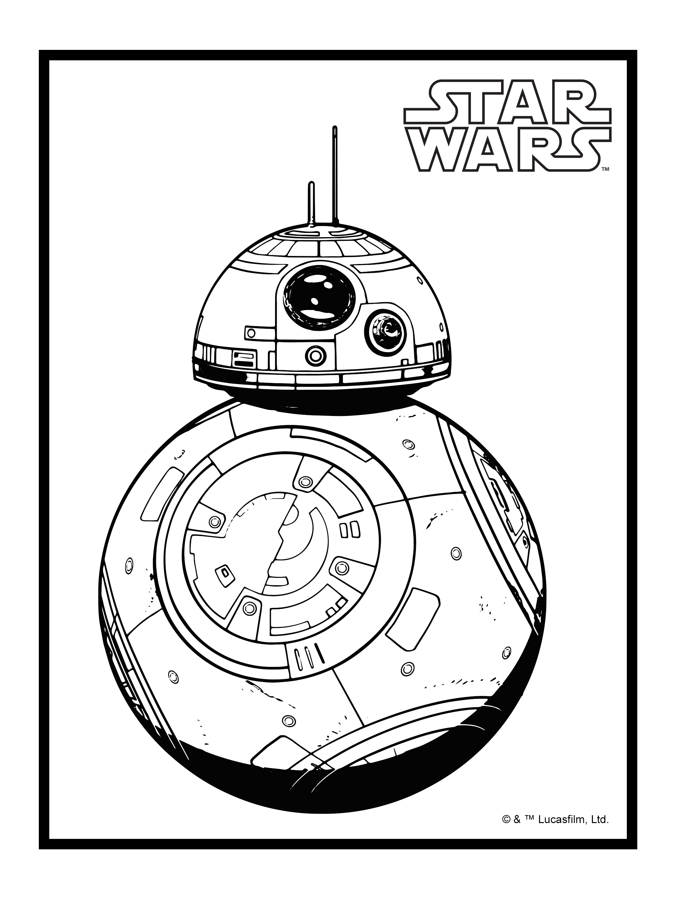 bb8 coloring page - bb8 coloring page sketch templates