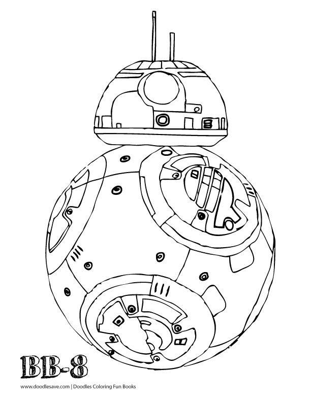 bb8 coloring page - bb8 coloring pages