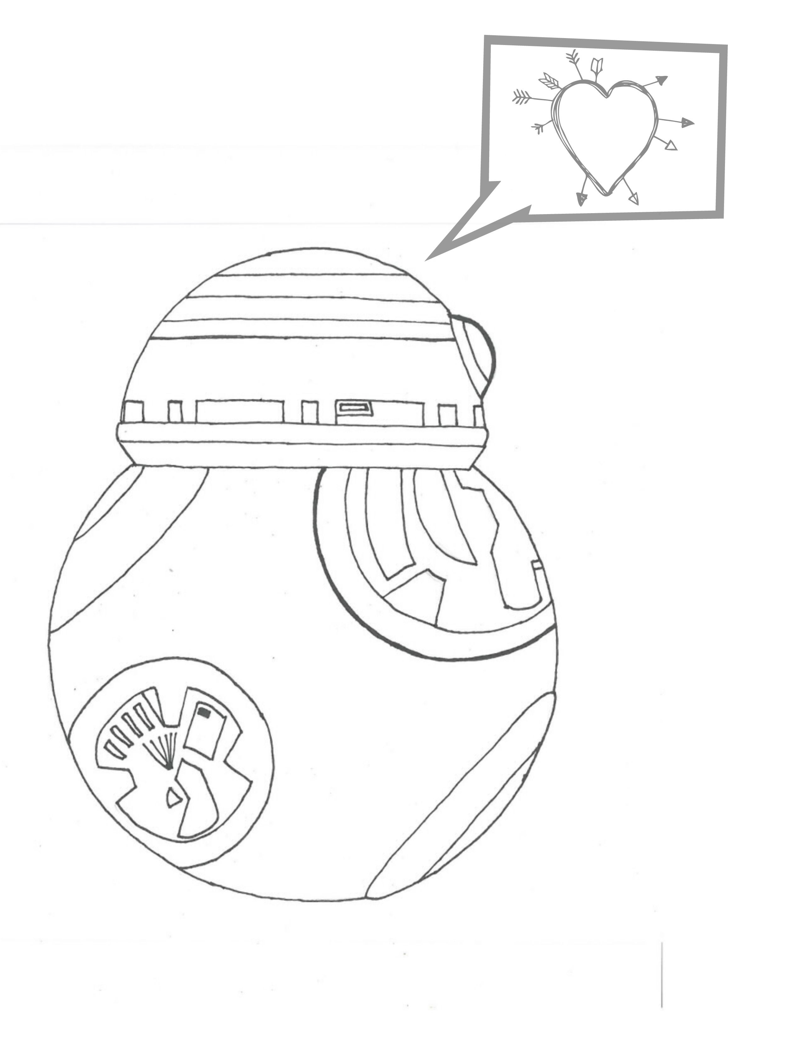 bb8 coloring page - bb8 droid coloring pages sketch templates