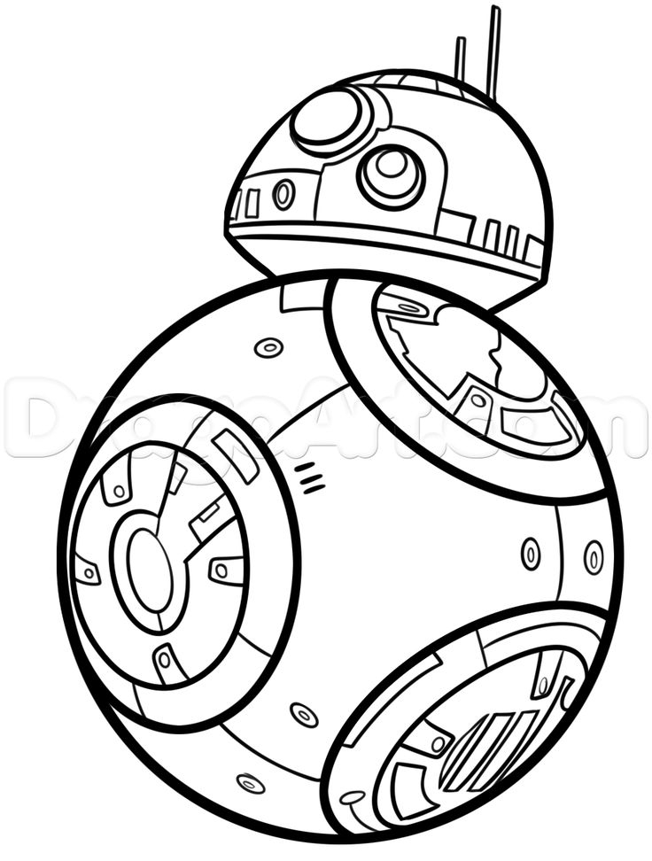 Bb8 Coloring Page - Bb8 Star Wars Coloring Pages Coloring Pages