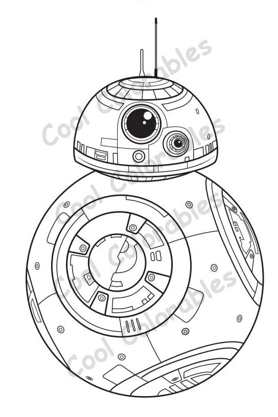 bb8 coloring page - star wars bb8 robot coloring sketch templates