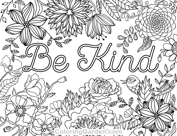 be kind coloring page - be kind coloring page