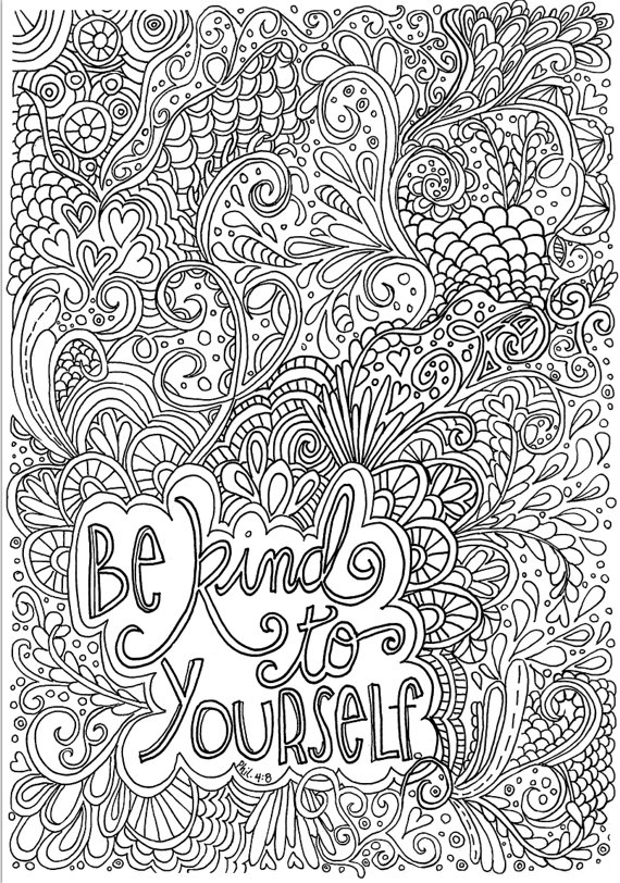 be kind coloring page - be kind creative quiet time coloring