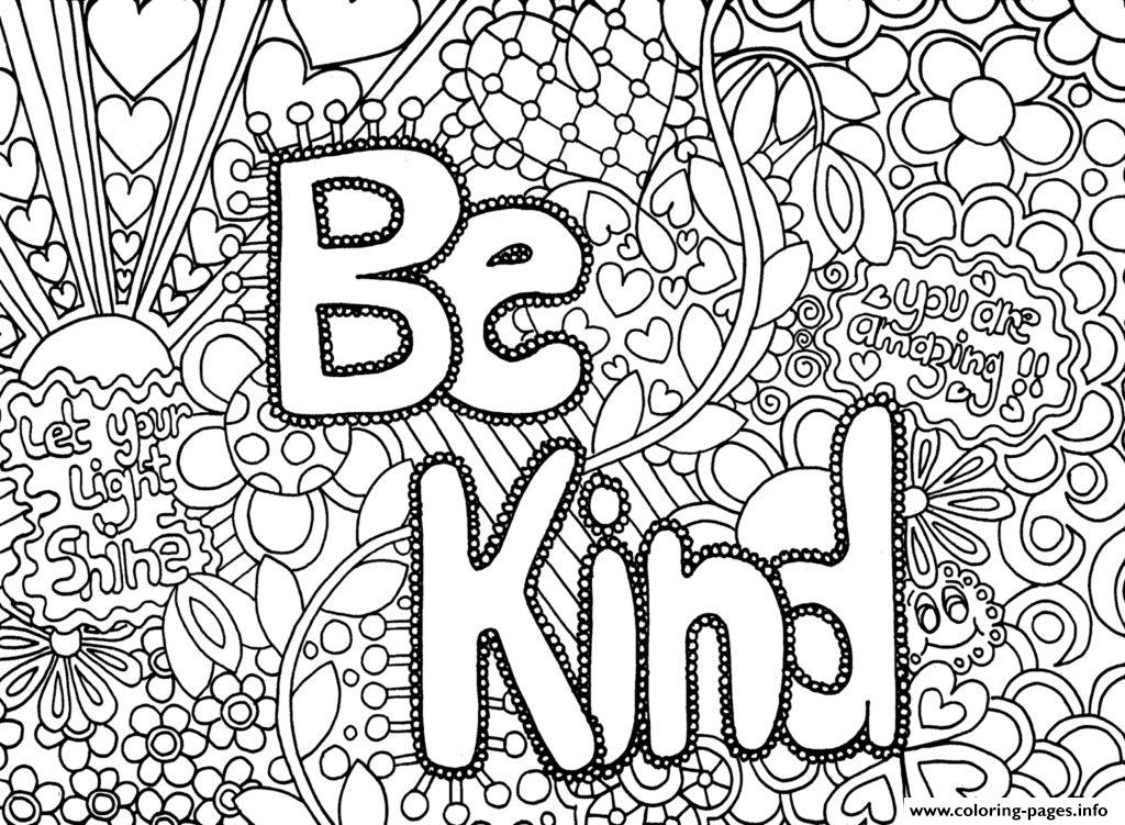 be kind coloring page - be kind word printable coloring pages book