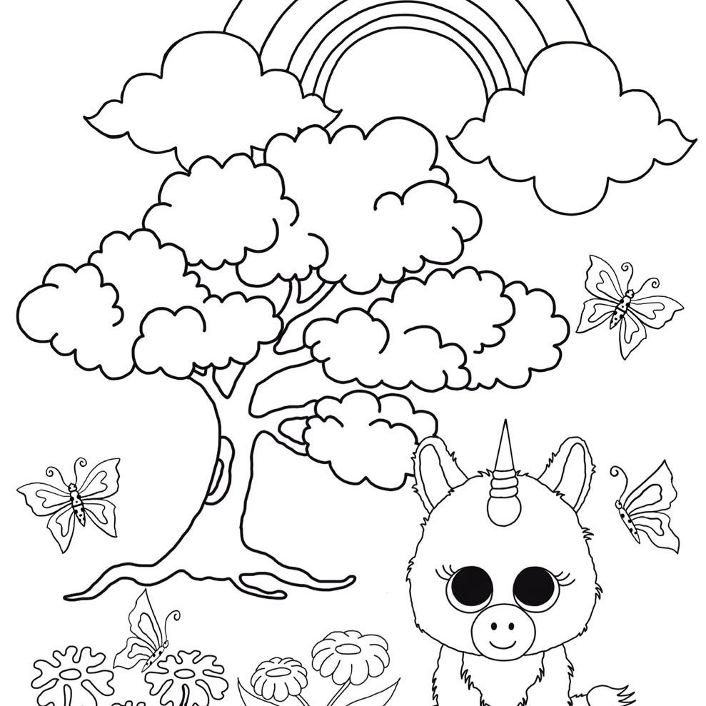 beanie boo coloring pages - beanieboofanclub