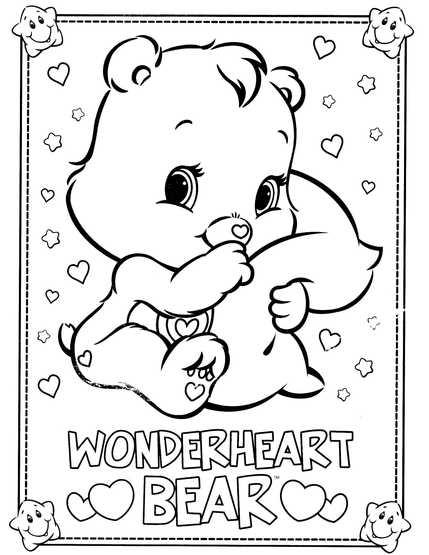 bear coloring pages - care bears coloring page 10