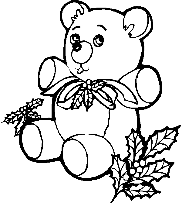 bear coloring pages - TeddyBear1