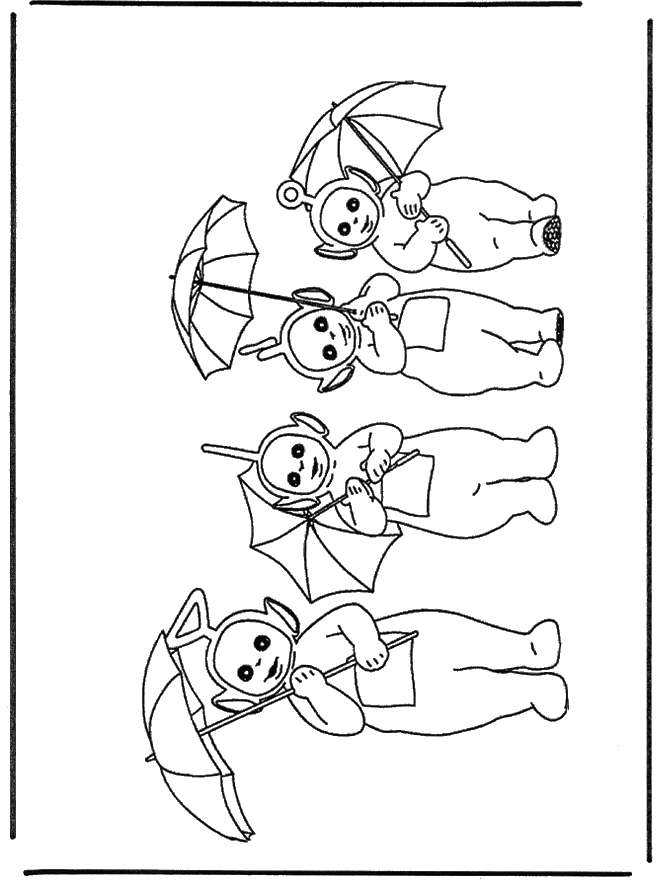 bear coloring pages - teletubbies 4