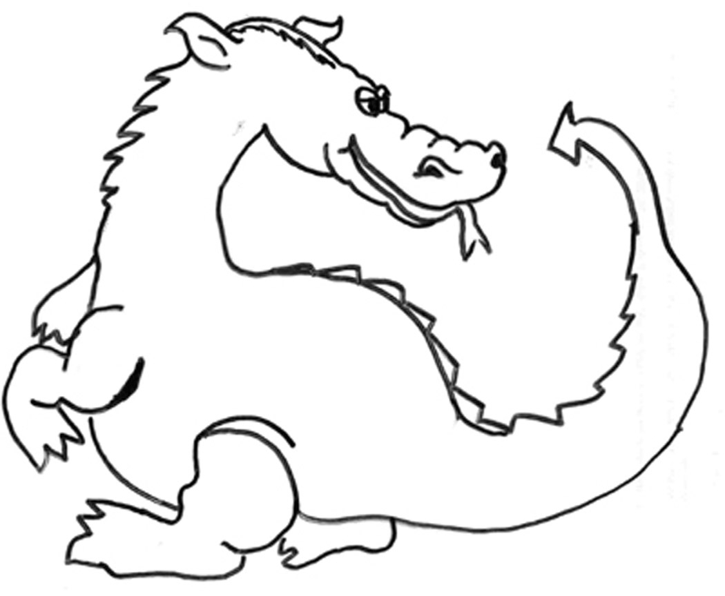 bearded dragon coloring page - dragon coloring pages
