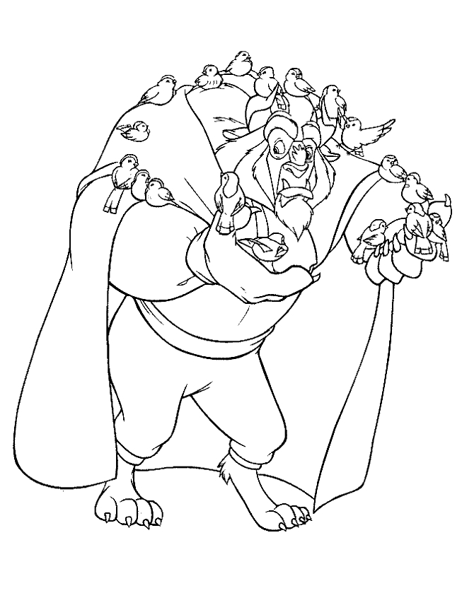 beast coloring page - beast coloring pages
